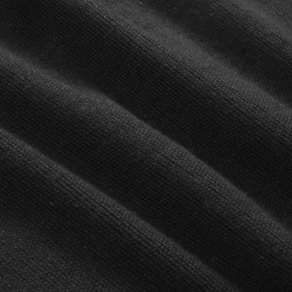 Herren Pullover Sweater Rundhals Schwarz L