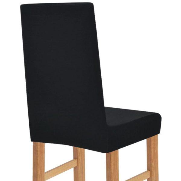 Stretch Stuhlhusse 4 Stk. Schwarz Breitgestreift