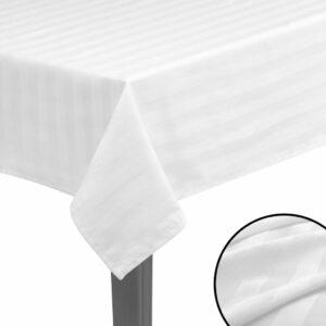 5 Stk. Tischdecken Baumwollsatin Weiß 100 x 100 cm