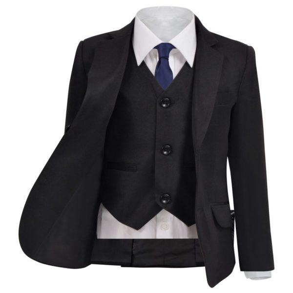 Jungen-Anzug 3-tlg. Größe 152/158 Schwarz