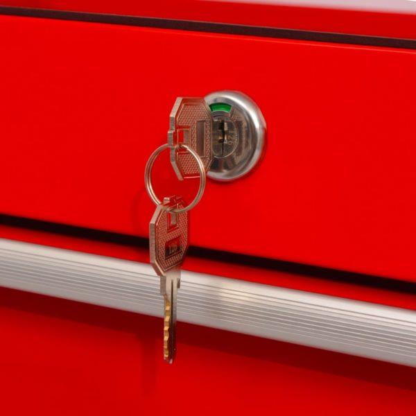 Werkstattwagen mit 10 Schubladen XXL Stahl Rot