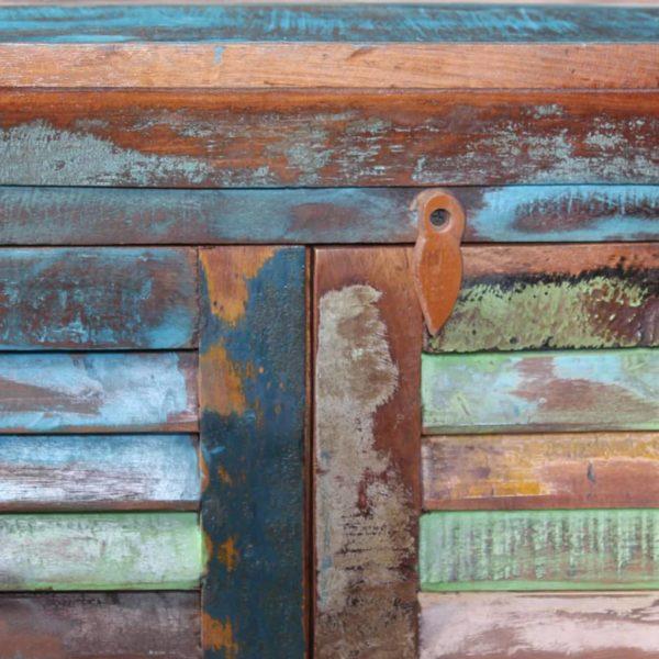 Sideboard mit 6 Türen Recyceltes Massivholz