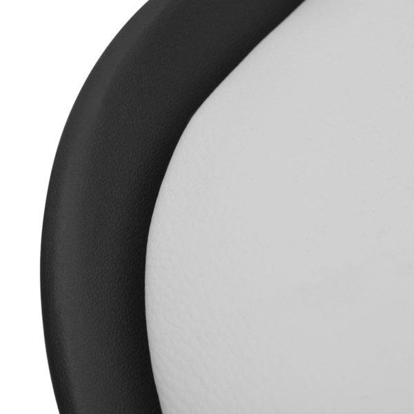 Esszimmerstühle 2 Stk. Schwarz und Weiß Kunstleder