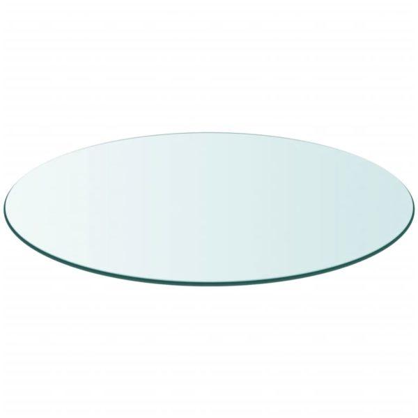 Tischplatte aus gehärtetem Glas rund 300 mm