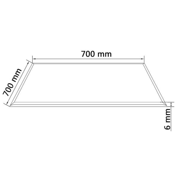 Tischplatte aus gehärtetem Glas quadratisch 700×700 mm