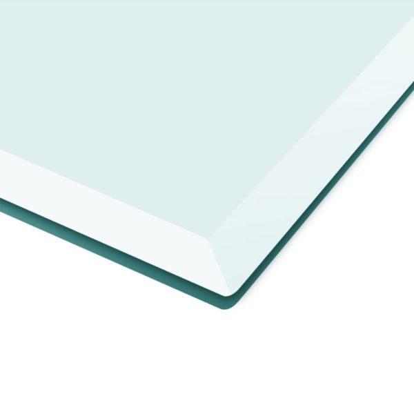 Tischplatte aus gehärtetem Glas quadratisch 800×800 mm
