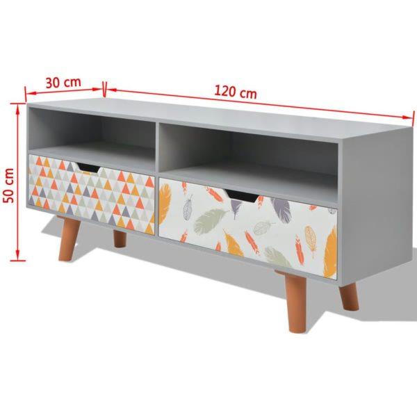 TV-Schrank MDF 120 x 30 x 50 cm Grau
