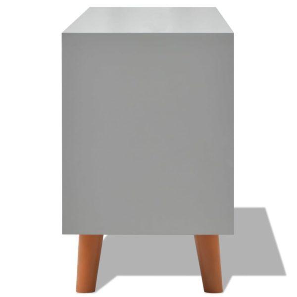 Anrichte Grau 110×35×57 cm MDF