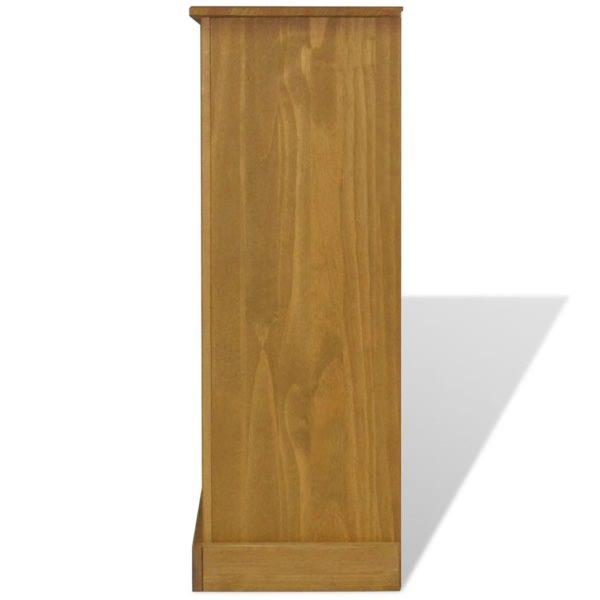 Bücherregal mit 3 Böden Mexiko-Stil Kiefer Corona 81x29x100 cm