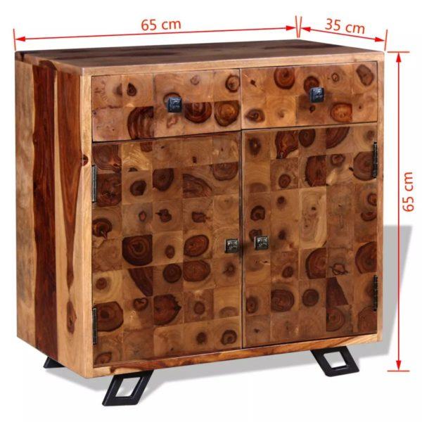 Sideboard Massivholz 65 x 35 x 65 cm