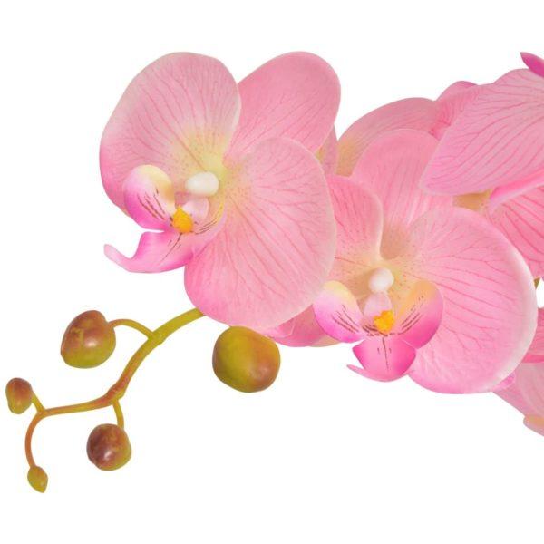 Künstliche Orchidee mit Topf 65 cm Rosa