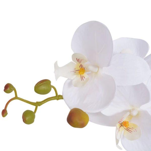 Künstliche Orchidee mit Topf 75 cm Weiß