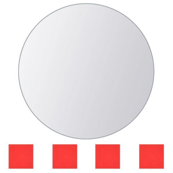 8-tlg. Spiegelfliesen-Set Rund Glas