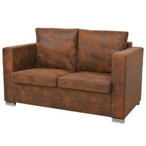 2-Sitzer Sofa 137 x 73 x 82 cm Künstliches Wildleder