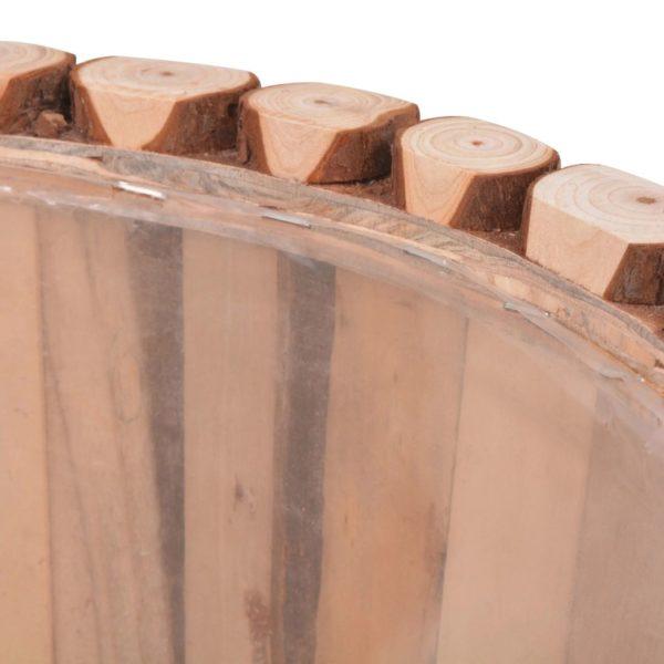 Pflanzkübel-Set 2-tlg. Echtes Tannenholz
