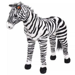 Plüschtier Stehend Zebra Schwarz und Weiß XXL