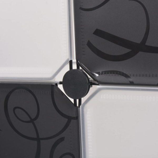 Regalsystem Würfelregal mit 9 Fächern Schwarz und Weiß