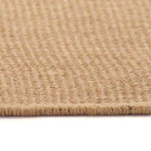 Teppich Jute mit Latexrücken 140 x 200 cm Naturfarben