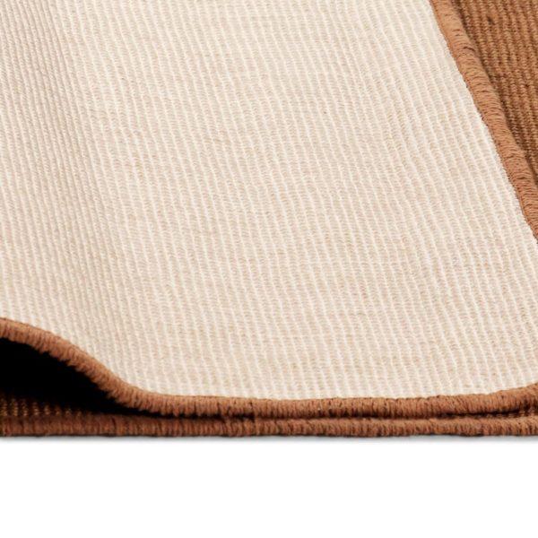 Teppich Jute mit Latexrücken 140 x 200 cm Braun