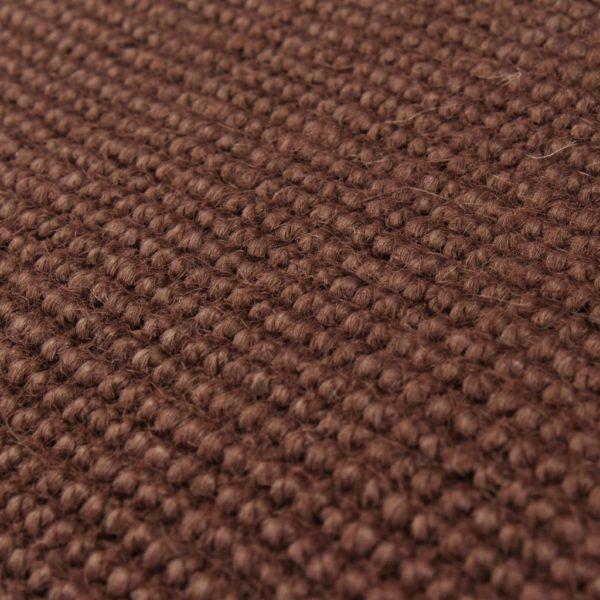 Teppich Jute mit Latexrücken 140 x 200 cm Dunkelbraun