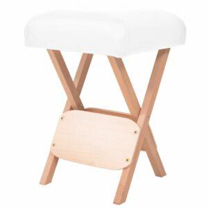 Massage-Klapphocker mit 12 cm Dickem Sitz Weiß
