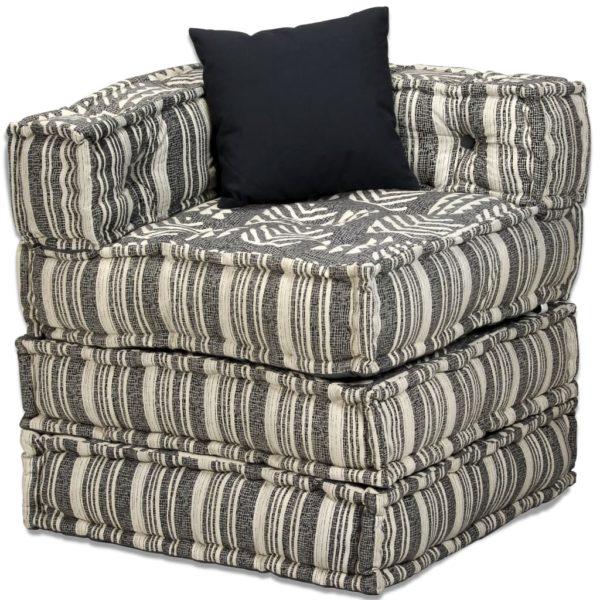 4-Sitzer Modulares Schlafsofa Stoff gestreift