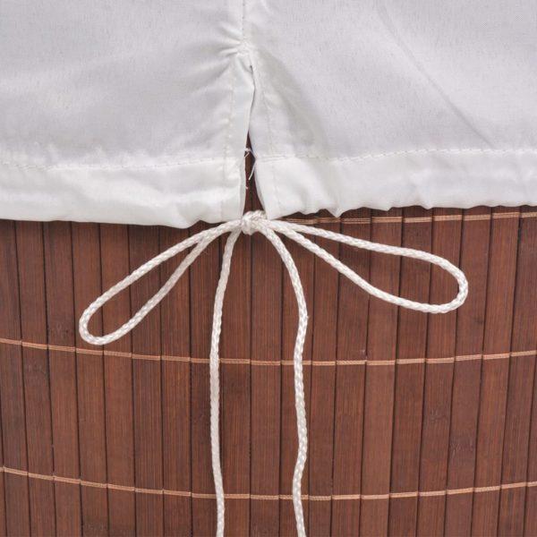Bambus-Wäschekorb Oval Braun