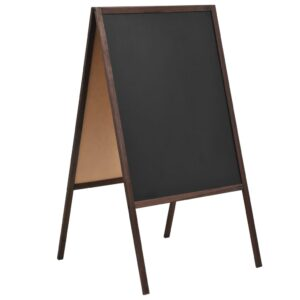 Tafel Kundenstopper Doppelseitig Zedernholz Freistehend 60×80cm