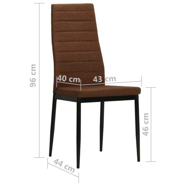 Esszimmerstühle 4 Stk. Braun Stoff