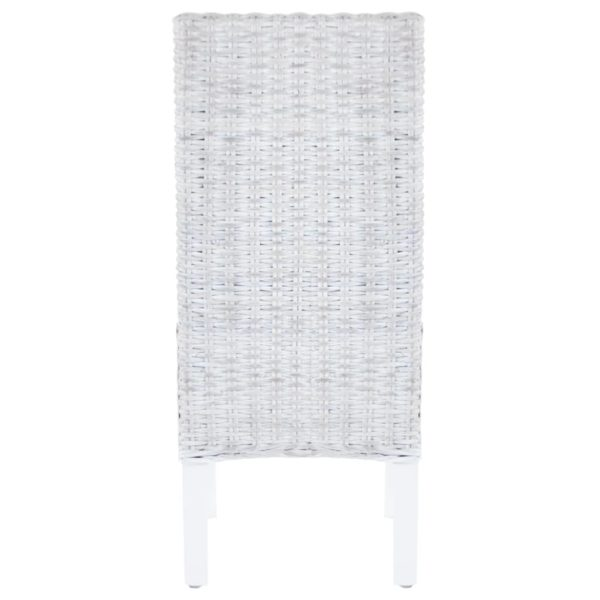 Esszimmerstühle 2 Stk. Grau Kubu Rattan und Mangoholz