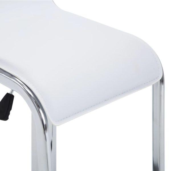 Drehbare Barhocker 2 Stk. Weiß Kunstleder