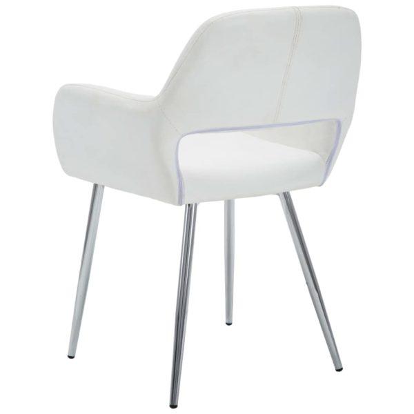 Esszimmerstühle 2 Stk. Weiß Kunstleder