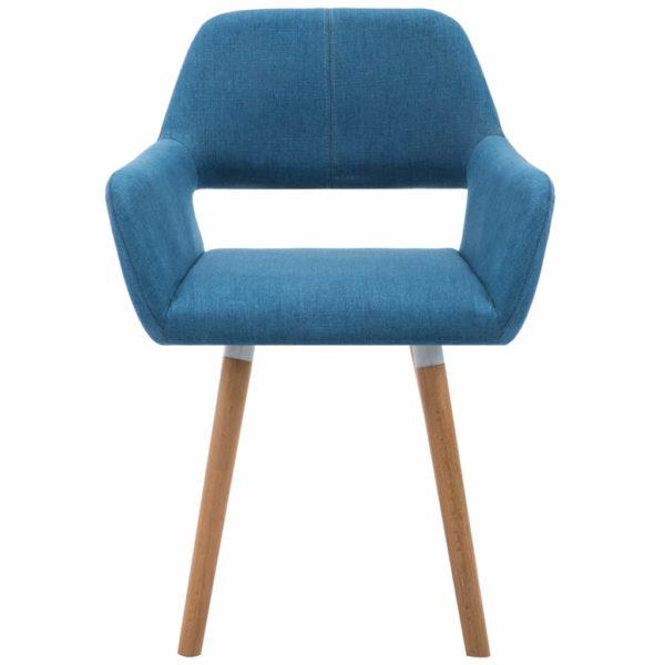 Esszimmerstühle 2 Stk. Blau Stoff