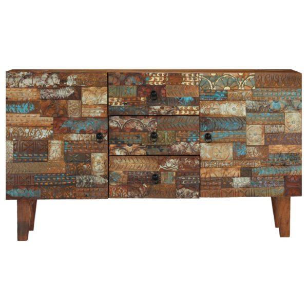 Sideboard Recyceltes Massivholz 140 x 40 x 80 cm