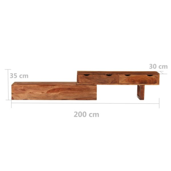 TV-Schrank 200×30×35 cm Palisander Massivholz