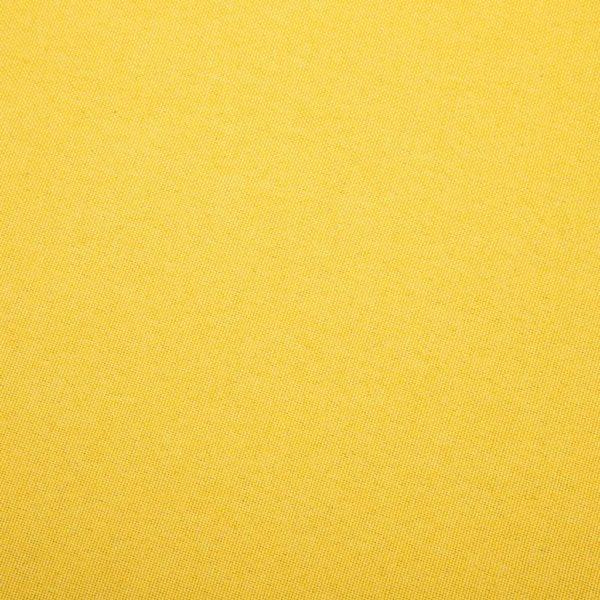 Polsterstuhl mit Fußhocker Gelb Stoff