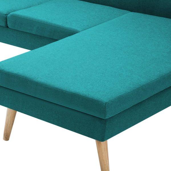 Sofa in L-Form Stoffbezug 186 x 136 x 79 cm Grün