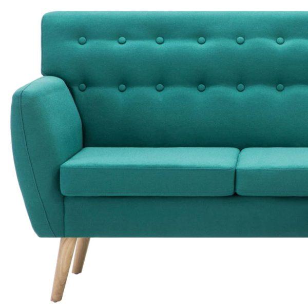 Sofa in L-Form Stoffbezug 171,5 x 138 x 81,5 cm Grün