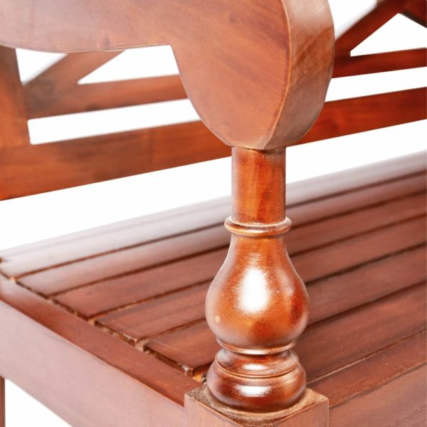 Batavia-Stühle 2 Stk. Dunkelbraun Mahagoni Massivholz