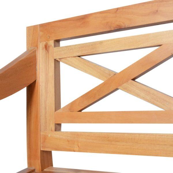 Batavia-Sitzbank 98 cm Mahagoni Massivholz Hellbraun