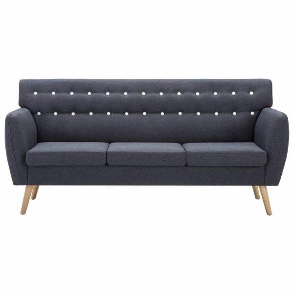3-Sitzer-Sofa Stoffbezug 172x70x82 cm Dunkelgrau