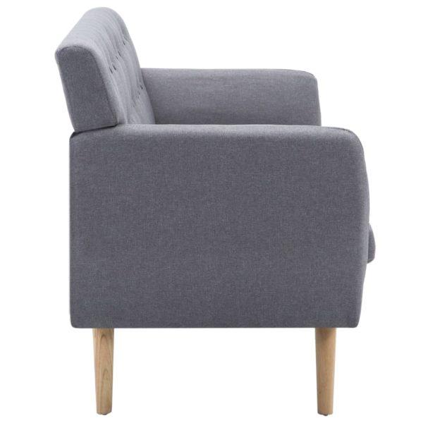 3-Sitzer-Sofa Stoffbezug 172x70x82 cm Hellgrau