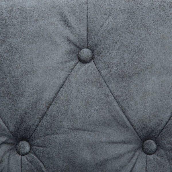 3-Sitzer Chesterfield-Sofa Stoffpolsterung Grau