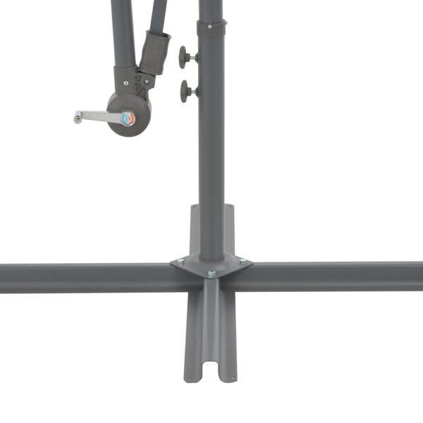 Ampelschirm mit Alu-Mast 350 cm Taupe