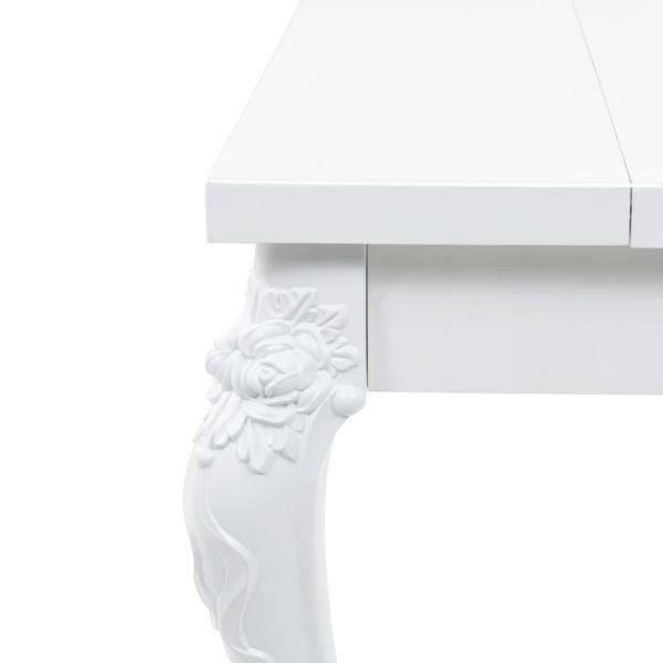 Esstisch 179 x 89 x 81 cm Hochglanz Weiß