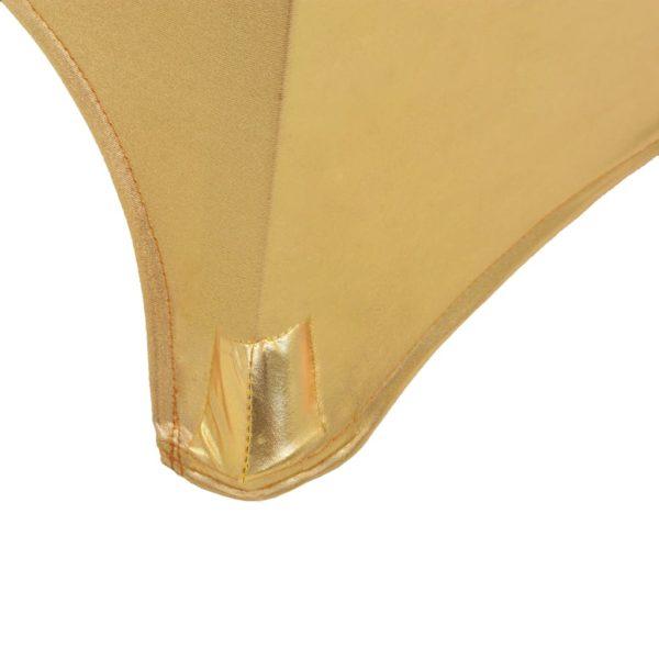 2 Stück Stretch-Tischdecken Golden 80 cm