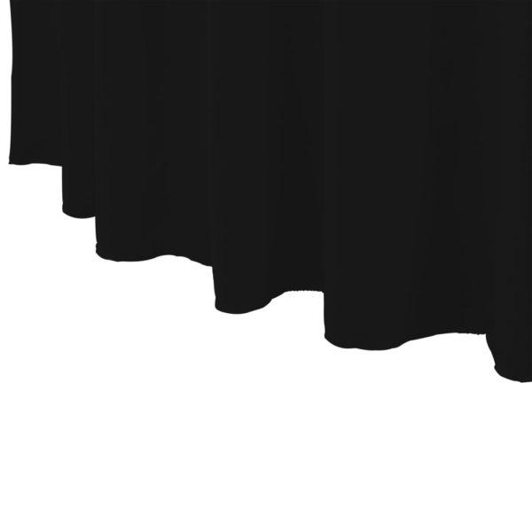 2 Stück Stretch-Tischdecken mit Rand Schwarz 120 x 74 cm