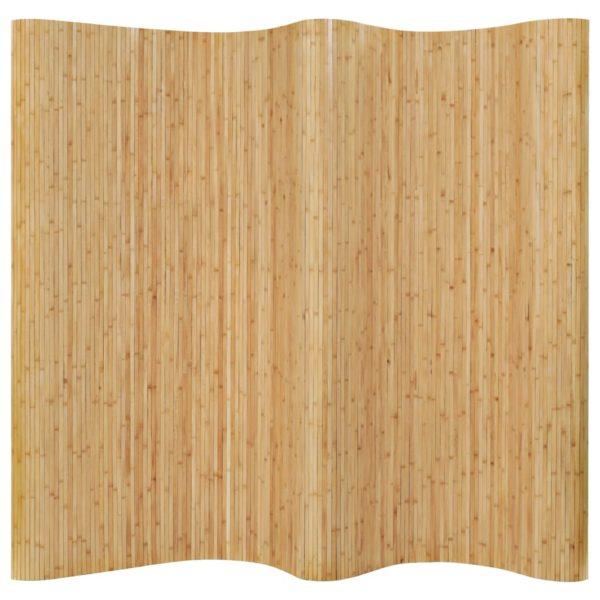 Raumteiler Bambus 250×165 cm Natur