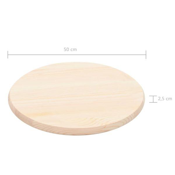 Tischplatte Natürliches Kiefernholz Rund 25 mm 50 cm