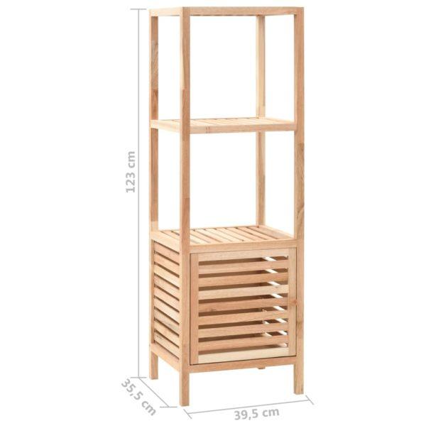 Badezimmerschrank Nussbaumholz Massiv 39,5 x 35,5 x 123 cm